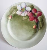 Early William Moorcroft Smoke Green 'Clematis' Tea Plate c1939